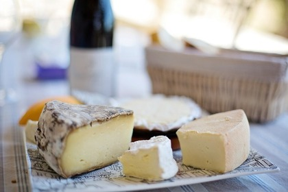 皿に盛られた様々なチーズ