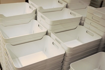 大量の白いボックス