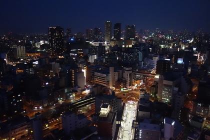 大阪・梅田のの綺麗な眺め