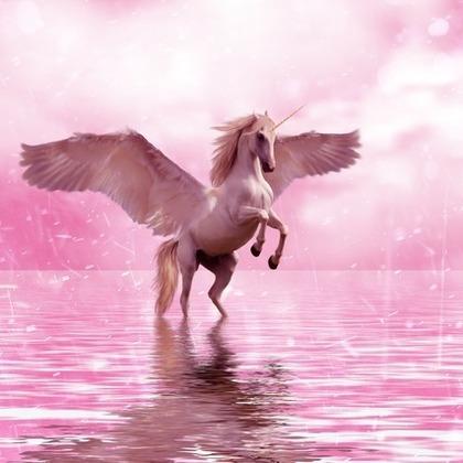 ピンクのユニコーン