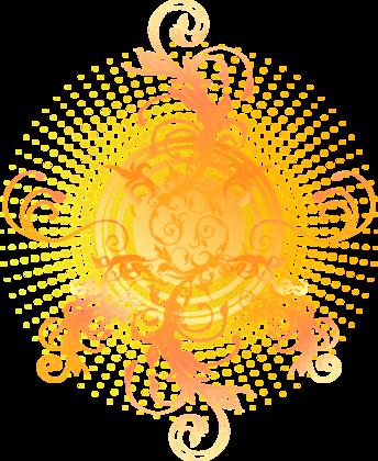 オレンジの渦巻