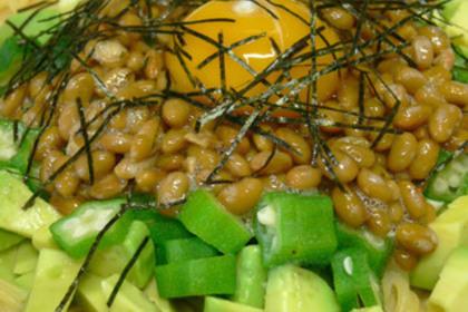 オクラ納豆