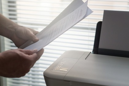 プリンターとコピー用紙
