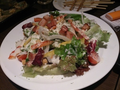 カラフルなシーザーサラダ