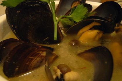 ムール貝の炒め物