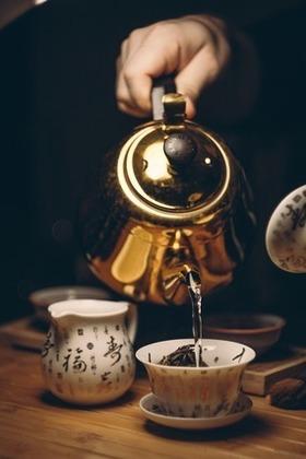 紅茶を入れる所
