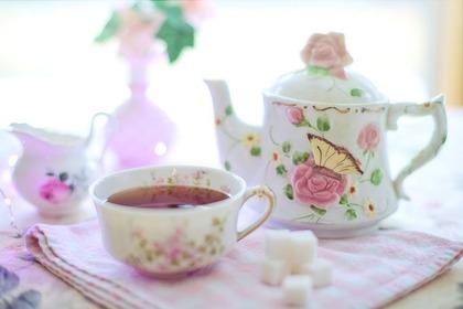 バラのティーカップ