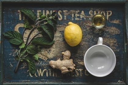 レモン、生姜、はちみつなどの素材