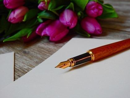 花と万年筆