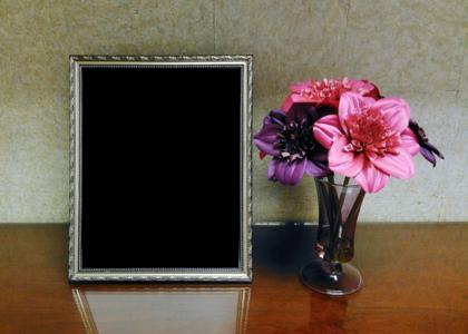 フォトフレームと花