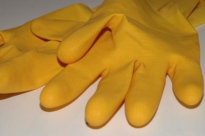 黄色い使いやすい軍手