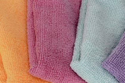 掃除に便利なマイクロファイバー雑巾