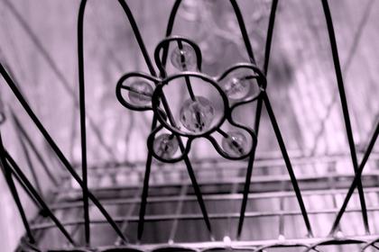 花のワイヤーアート