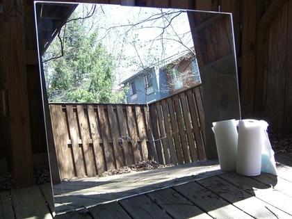 景色がうつった鏡