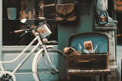 白い自転車