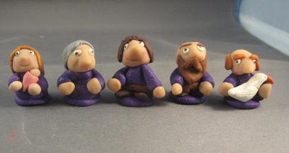 粘土の人形