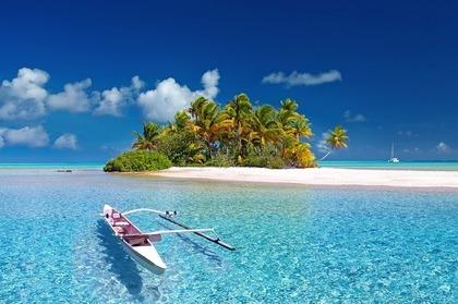 島とボート