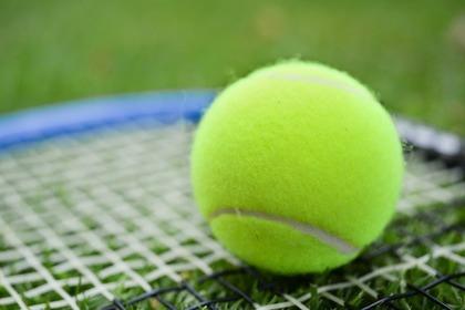 テニスラケットとテニスボール