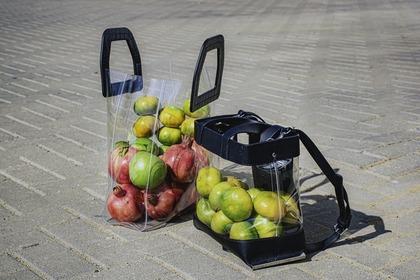 フルーツをいれたエコバッグ