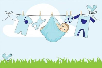 乾燥中の洗濯物