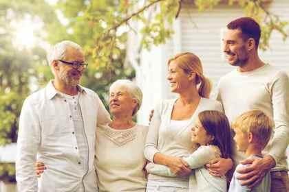 親族で接する時間の画像