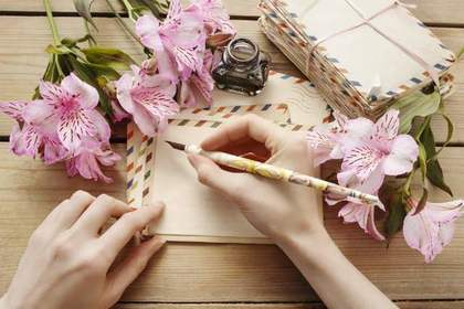 インクペンと手紙