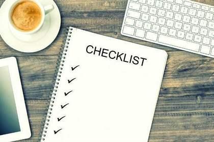 命名紙に書く準備のチェックリストの画像