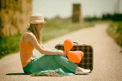 自分と向き合う為に旅に出る女