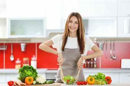 料理をする女性2
