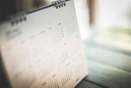 真っ白なカレンダー