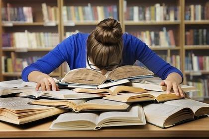 読書中の居眠り