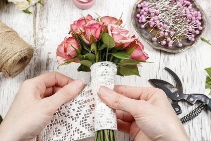 花束を作る