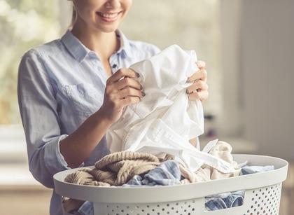 洗ったばかりの洗濯物