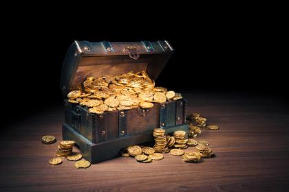 宝箱の中のコイン