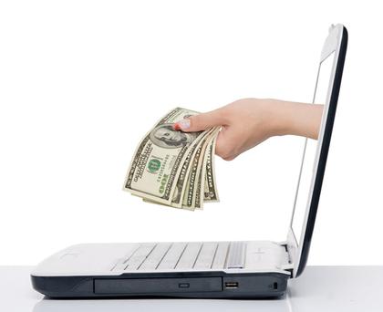 コンピュータからお金を渡す手
