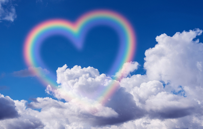 ハートの虹