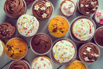 かわいいカップケーキ