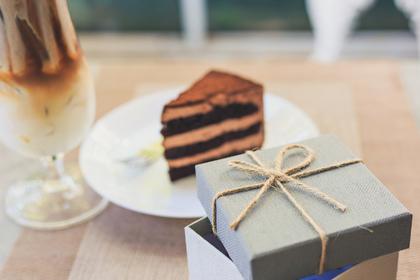 宅急便で届いたケーキ