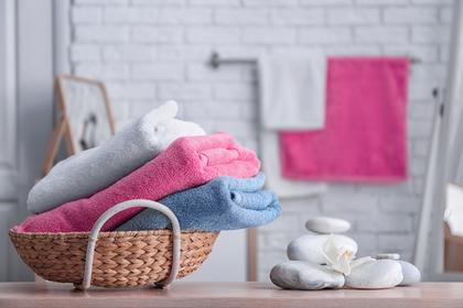 洗面所とタオル