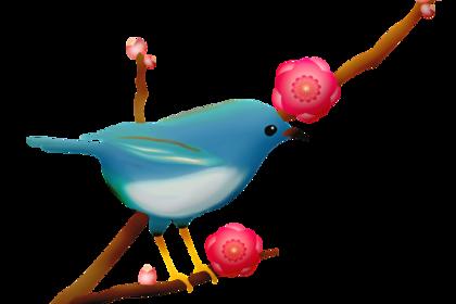 青色の小鳥
