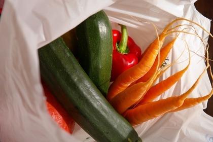 野菜の入った袋