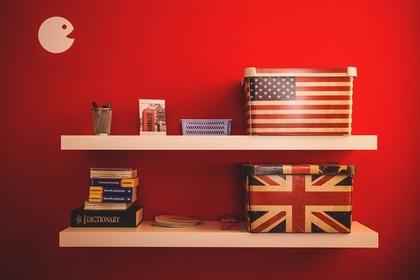 アメリカとイギリス柄のボックス