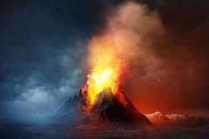 噴火で津波がおこる夢