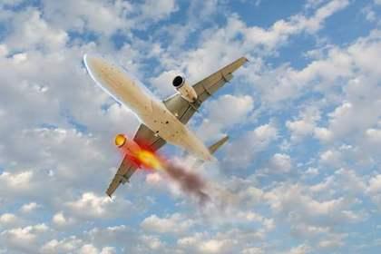 遭難してしまった飛行機