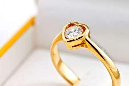 モチーフのある指輪