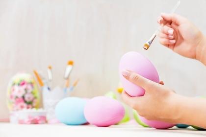 パステルカラーの卵