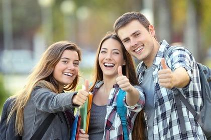 三人の友人の画像