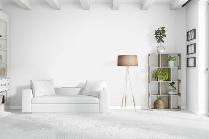 白を基調にした部屋