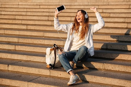 音楽を聴く人