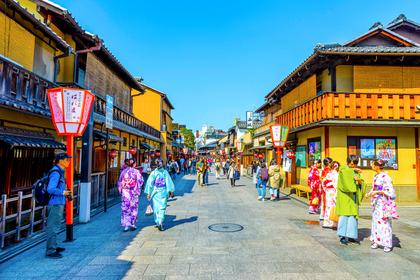 古風な日本の街並み